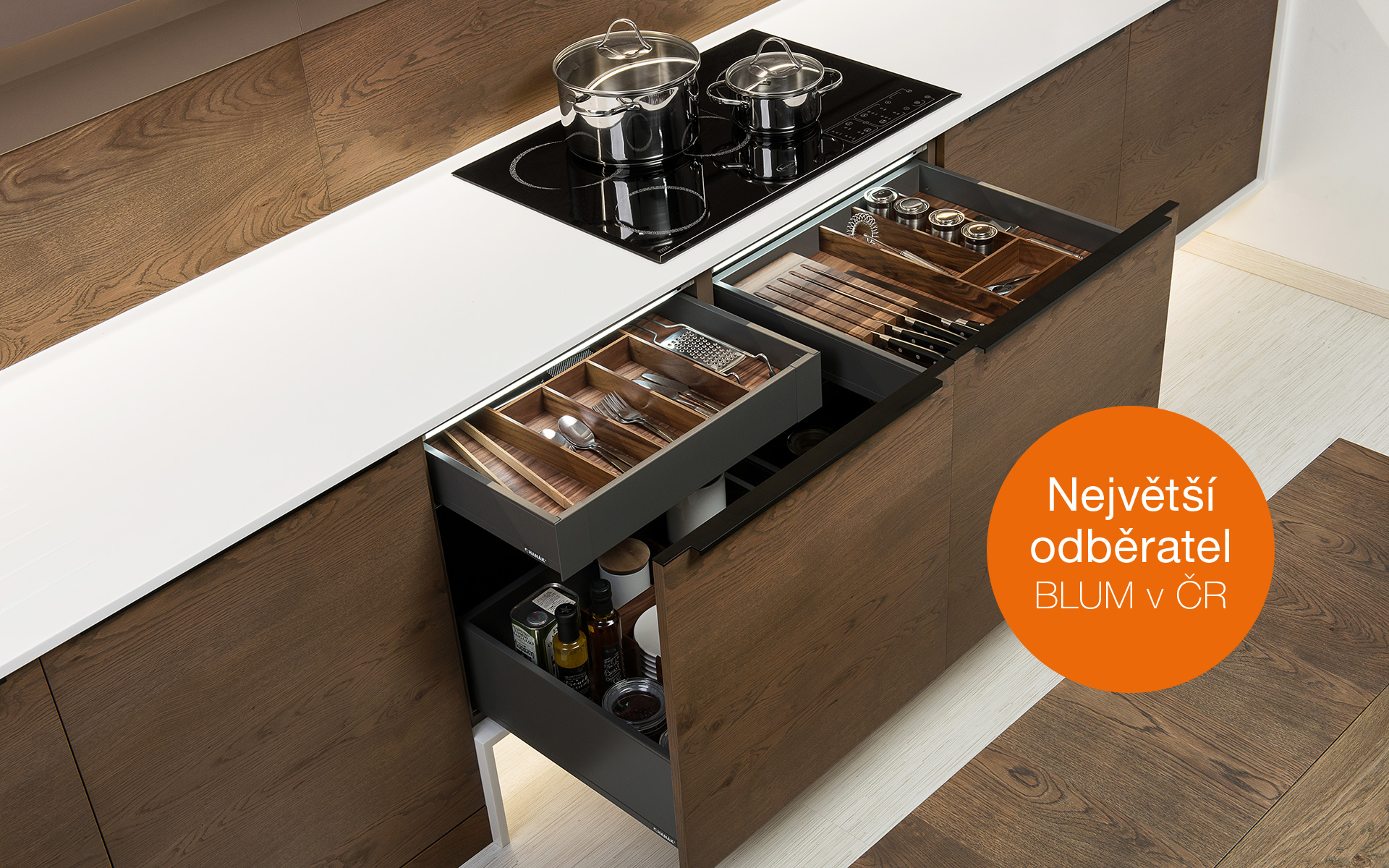 INNOVATIONS IN BLUM LEGRABOX DRAWERS in HANÁK KITCHENS