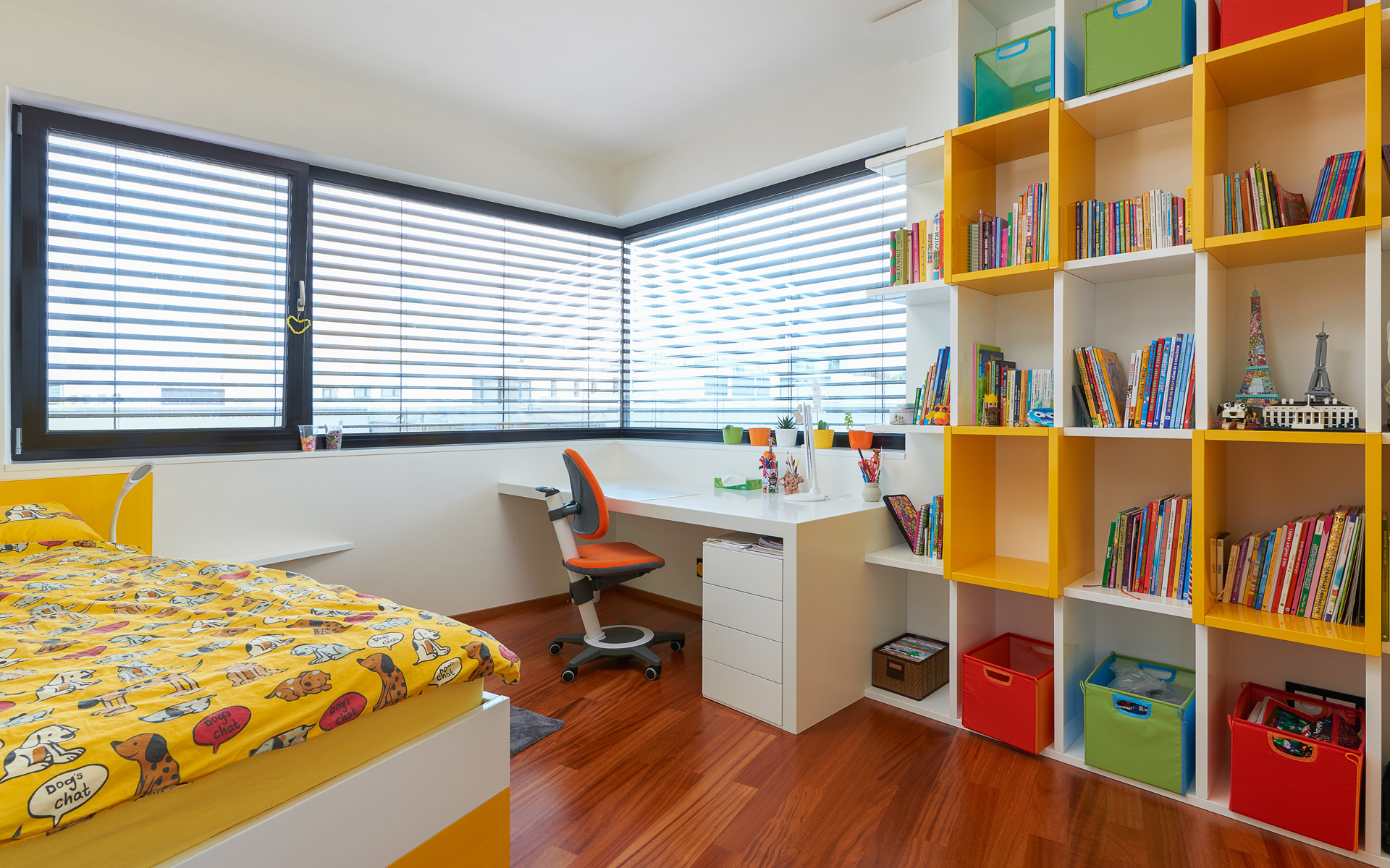 Children room with bookcase