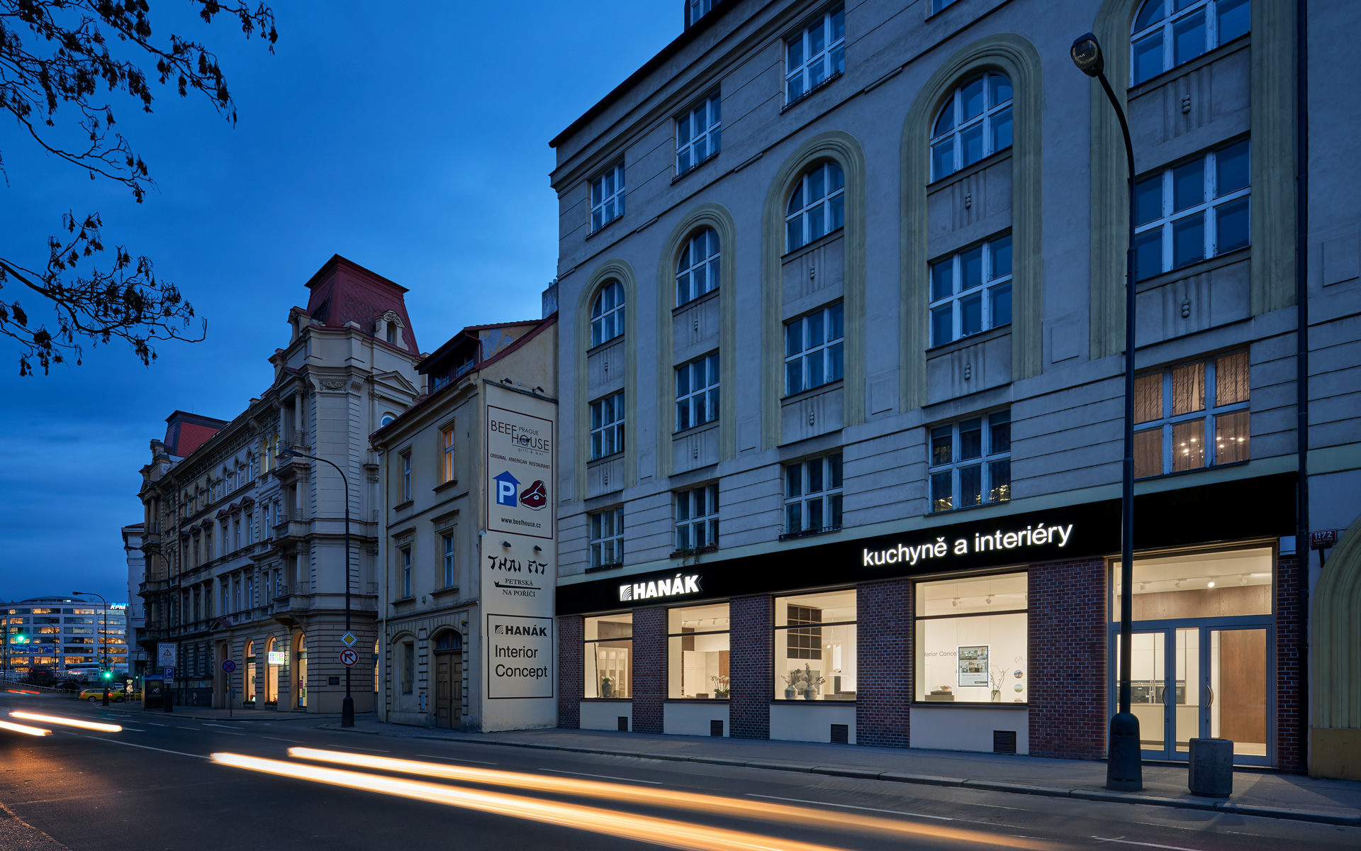 The wonderful new showroom at Klimentská Street, Prague, invites you